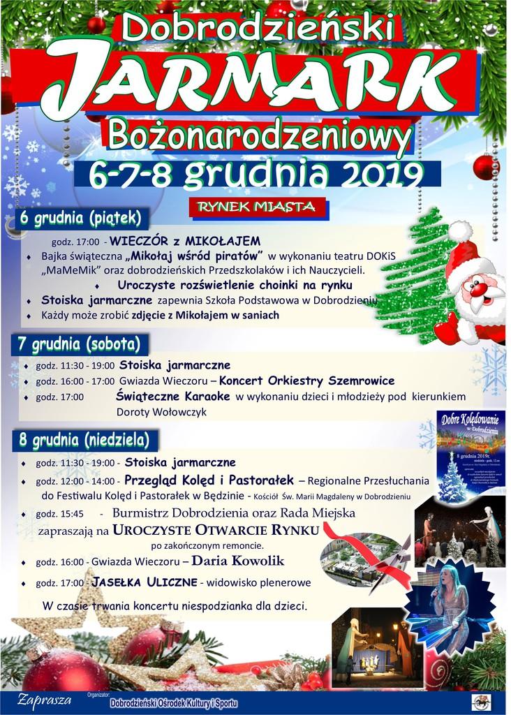 Jarmark Bożonarodzeniowy 2019 Dobrodzień-plakat 2.jpeg