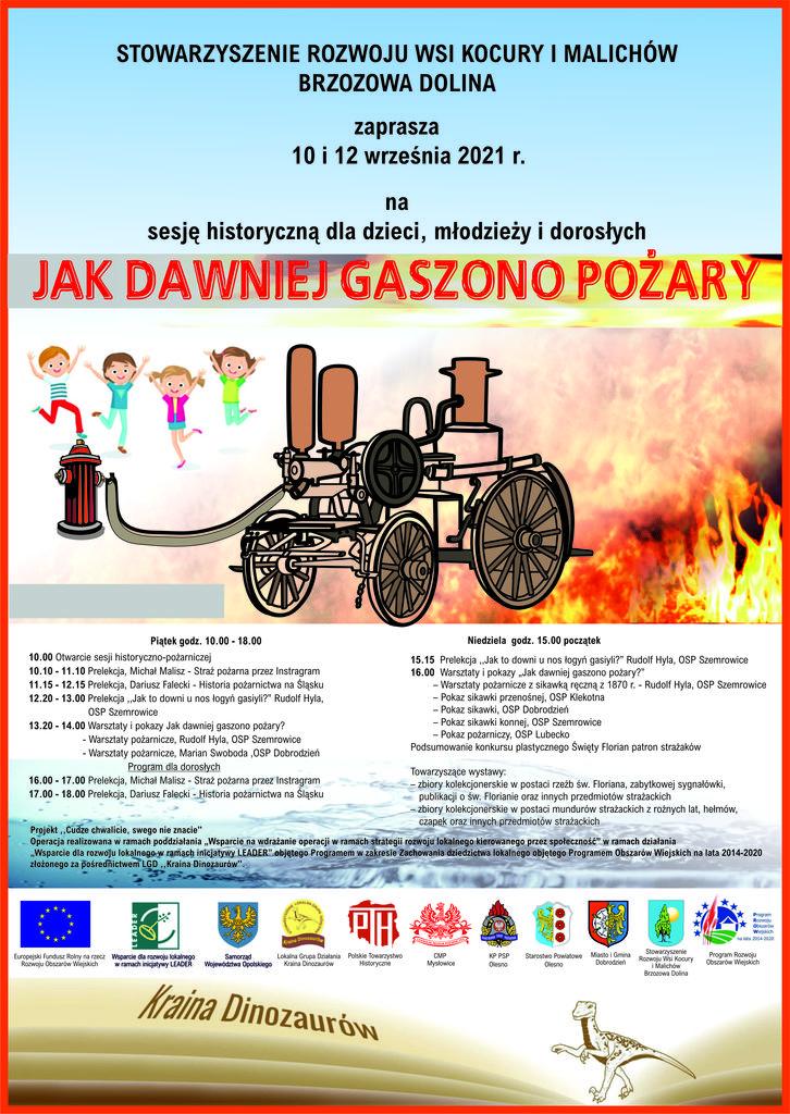 Plakat -Jak dawniej gaszono pożary Brzozowa Dolina -JPG.jpeg